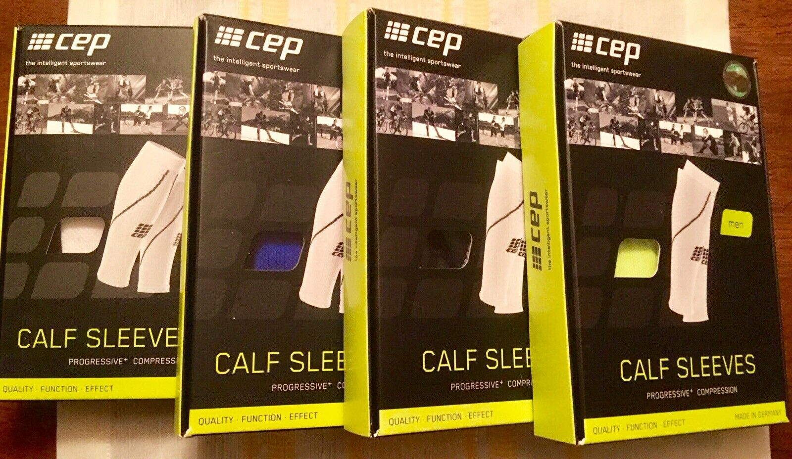 CEP Compression Calf Sleeves Lot Of 4 Size 3 4 New NIP Running   Tri   Ironman
