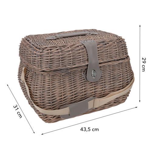 anndora Picknick Korb Isolierfach groß Bestecktasche 21 Teile 4 Personen