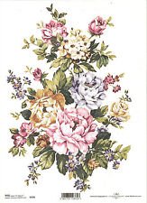 Rice Paper for Decoupage Scrapbooking, Big Bunch of Flowers A4 ITD R376
