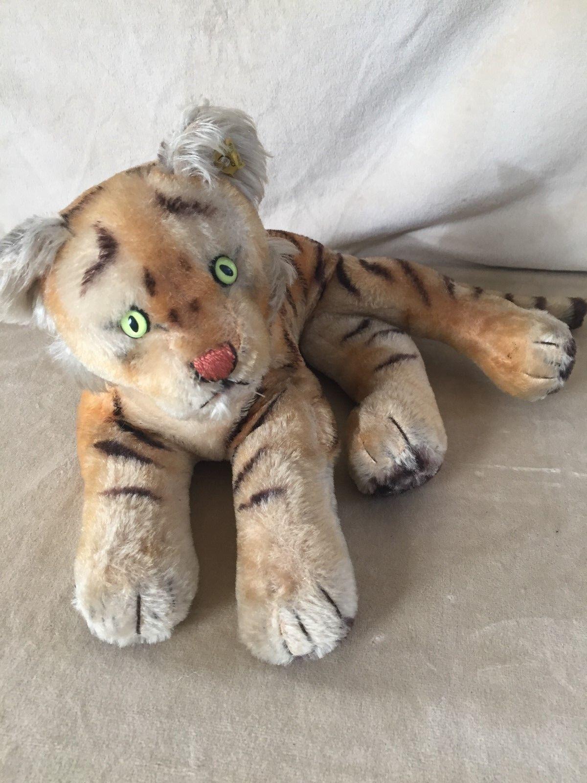 Steiff Tiger mit KF, Vintage, 44 cm