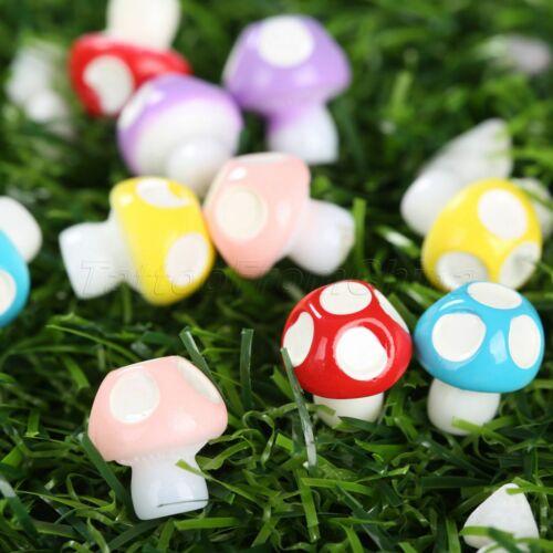 Lovely Miniature Garden Decor DIY Ornament Fairy Dollhouse Mushrooms 10//50pcs