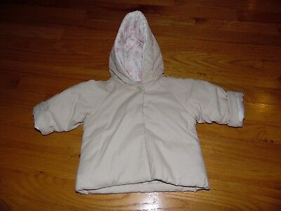 JACADI Girl/'s Requete Ruby Red Parka Jacket With Hood Size 6 Months NWT $88