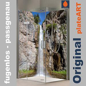 Coin duschrückwand Mur Arrière douche alu lac de montagne en Suisse Carreaux de rechange