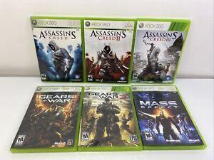 Xbox 360 Video Game Lot Of 6 Tested Gears Of War Mass Effect DA92984 #9