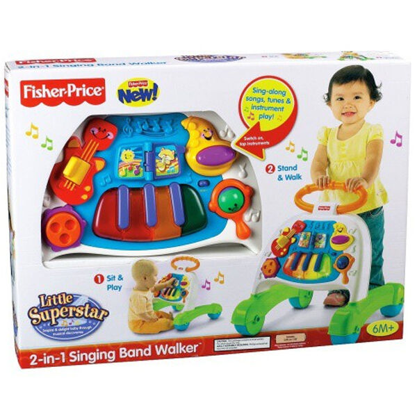 FISHER WALKER PRICE P2744 2-IN-1 SINGING BAND WALKER FISHER NEU & OVP c2e53c