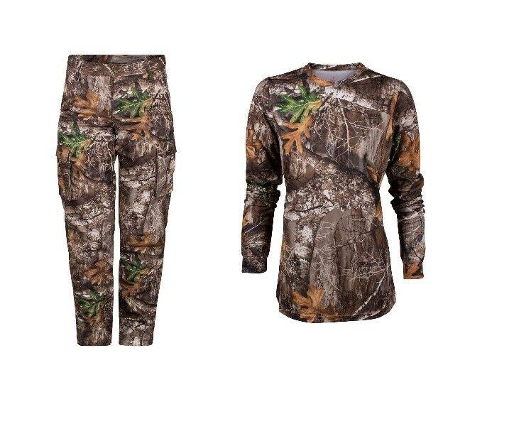 2pc Kings Camouflage Femme Chass Series Realtree Edge Pantalon & manches longues Bundle Lot