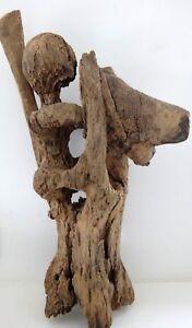 Grande-sculpture-bois-cavalier-Sakalav-art-africain-Tribal-sculpture-african-XIX