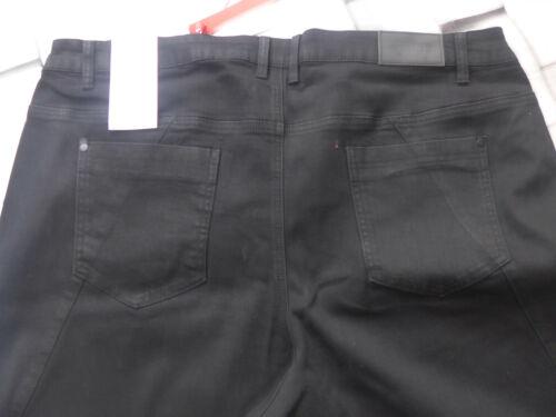 198 NEUF Sheego Jeans Pantalon Stretch Taille 44 à 58 Noir Pailleté 135