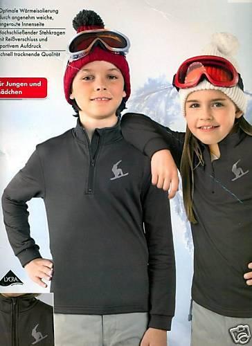 Snowboardshirt Shirt Langarmshirt  Braun Gr 122//128-134//140-146//152