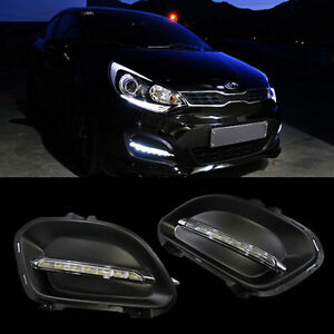LED-Light-Daylight-DRL-Cover-For-KIA-2012-2015-RIO-Hatch-Back-5DOOR-PRIDE