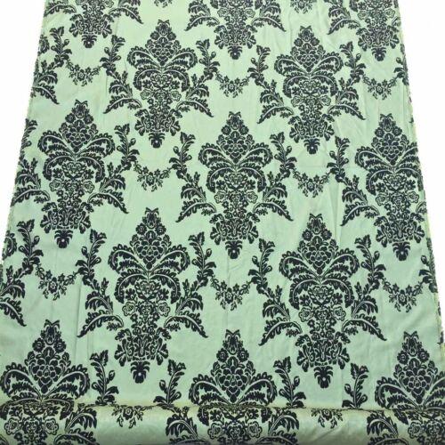 Damasco tejido de terciopelo flocado Tafetán Victoriana Vestido Traje de Boda Gótico Gótico