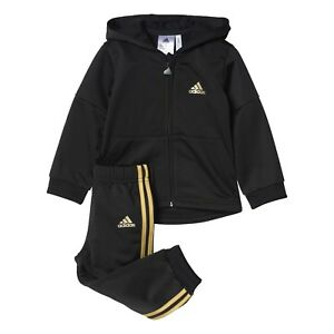05598608 Adidas Infant ST Shiny Full Zip Tracksuit Children Hooded Set BP5307 ...