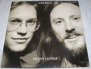 America-Silent-Letter-OIS-mit-Text-Lyrics-Made-in-Germany-Vinyl-LP-Album