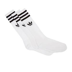 Adidas Originals Solid Crew Socks White Black