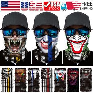 FDGJNB Mens Halloween Party Bandana Face Mask 3D Printed Cycling Motorcycle Neck Gaiter Tube Ski Scarf