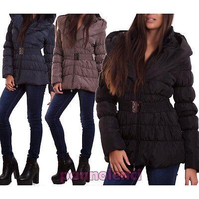 Piumino donna imbottito giubbotto cappuccio giaccone trapuntato TOOCOOL VI-M002