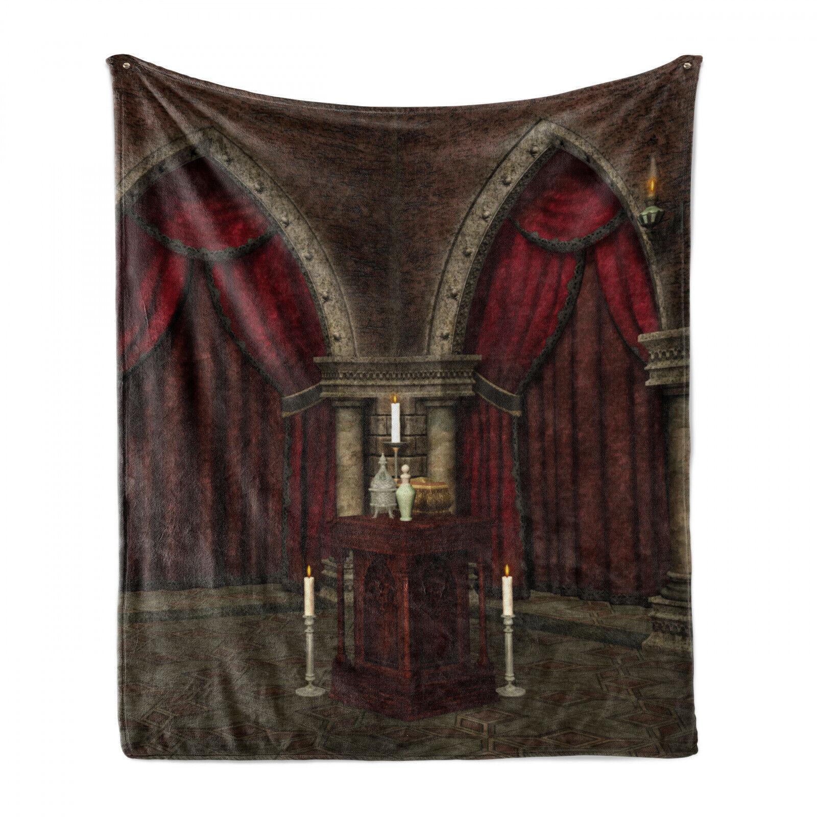 gotisch Weich Flanell Fleece Decke Mysterious Zimmer Castle