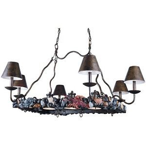 Hanging Island Light Pot Rack Triarch Bayside 6+3 31329 ...