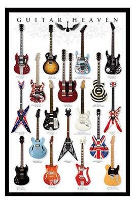 Gitarren- Guitar Heaven- Musik - Poster Druck - Größe 61x91,5 Cm Angenehme SüßE