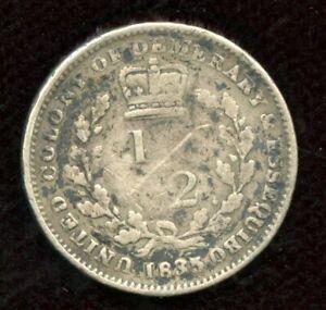 1835-5-Demeraray-amp-Essequibo-Suriname-1-2-Guilder