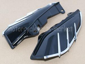 Black Mid Frame Air Deflectors Trims For Harley Road King