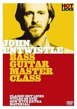 JOHN ENTWISTLE THE WHO Bass Guitar Master Class DVD Lesson HOT LICKS TUTOR Learn