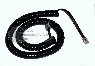 Black *NEW* 25 Coil Cords For Avaya Phones 12/' foot
