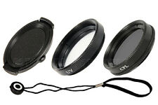 37 mm set: objetivamente tapa tapa & soporte & filtro UV & polarizador