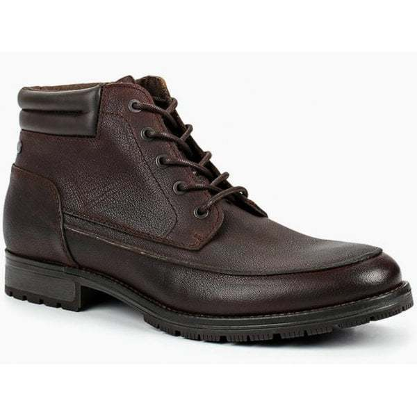 Jack & Jones JENSON Mens Casual Leather Ankle Laced Stiefel braun Made In Portugal