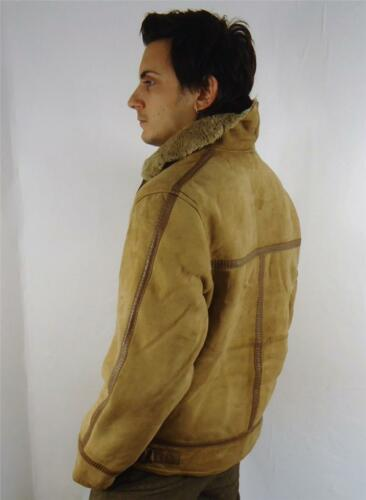 Vintage Airforce Flying Fleece Warm S Jacket Lined Classic Leather Mens Style fqYwrf