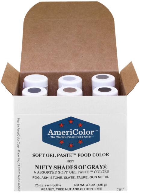 AmeriColor Food Coloring Nifty Shades of Gray Kit   eBay