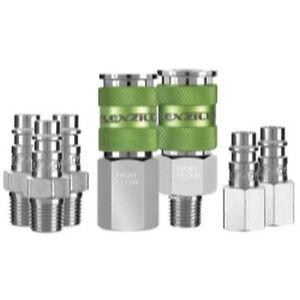 Legacy-A53457FZ-7-Piece-Flexzilla-Pro-High-Flow-Coupler-amp-Plug-Kit-1-4-in-NPT