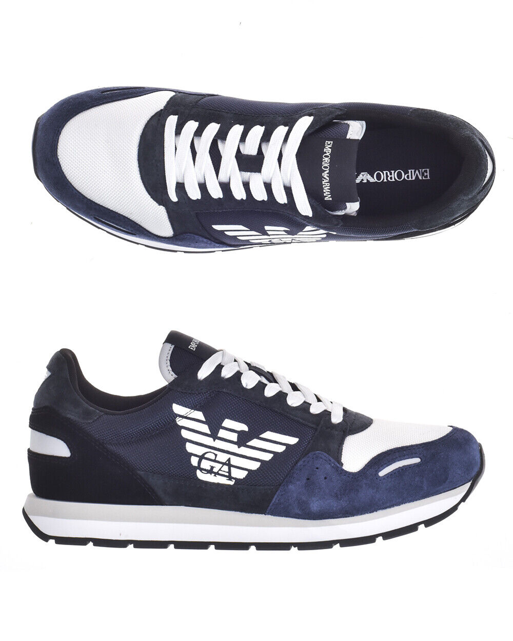 Emporio Armani shoes Sneaker Leather Man bluee X4X215XL200 A034 Sz.42 MAKE OFFER