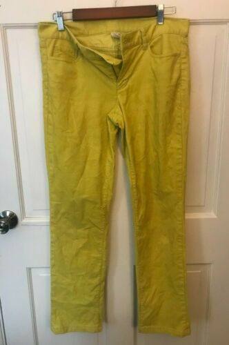 J CREW BRIGHT YELLOW CORDUROY PANTS SIZE 30S CITY