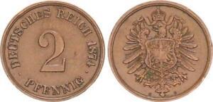 Imperio 2 Peniques 1874C F. Vz 46493