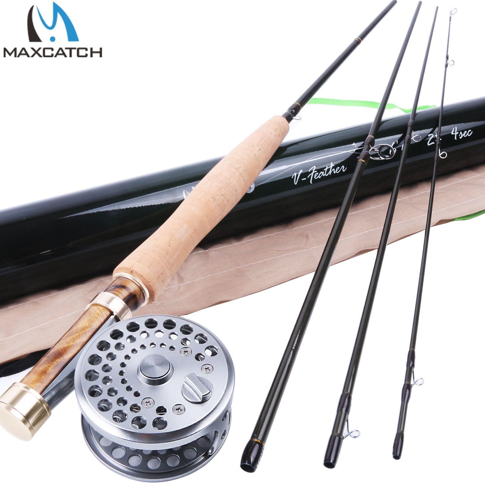 2WT Fly Rod and Reel Combo 6'6 MediumFast Fly Fishing Rod & Classic Fly Reel