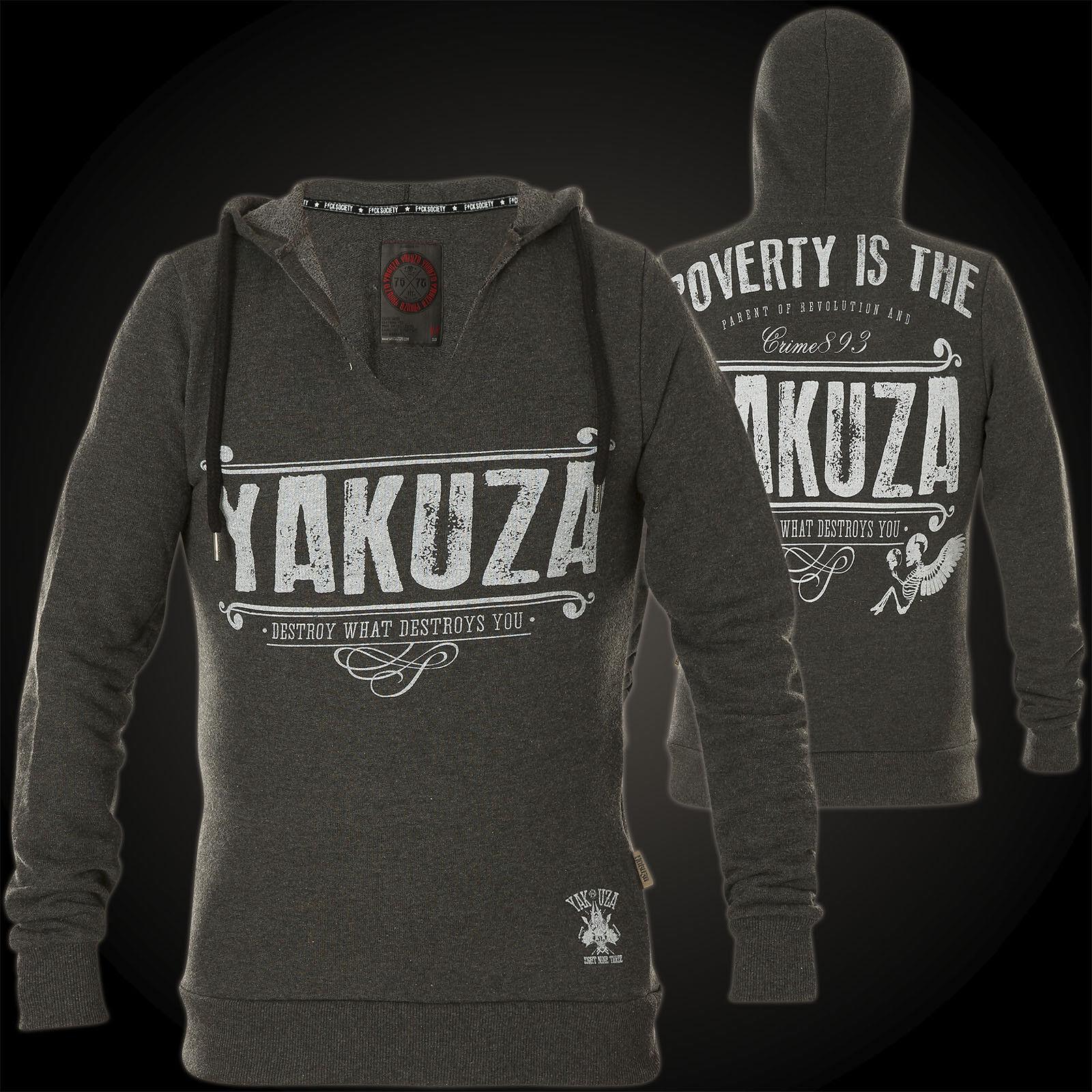 Yakuza Hoody Pogreeny HOB-10064 Dark Grey Melange