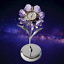 Crystocraft-Lilac-Flower-Crystal-Clock-Ornament-Swarovski-Elements-Gift-Boxed thumbnail 3