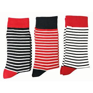 Jasmine-Silk-3-Pares-Muy-Suave-Mujer-039-Puro-Bambu-Calcetines-Rayados