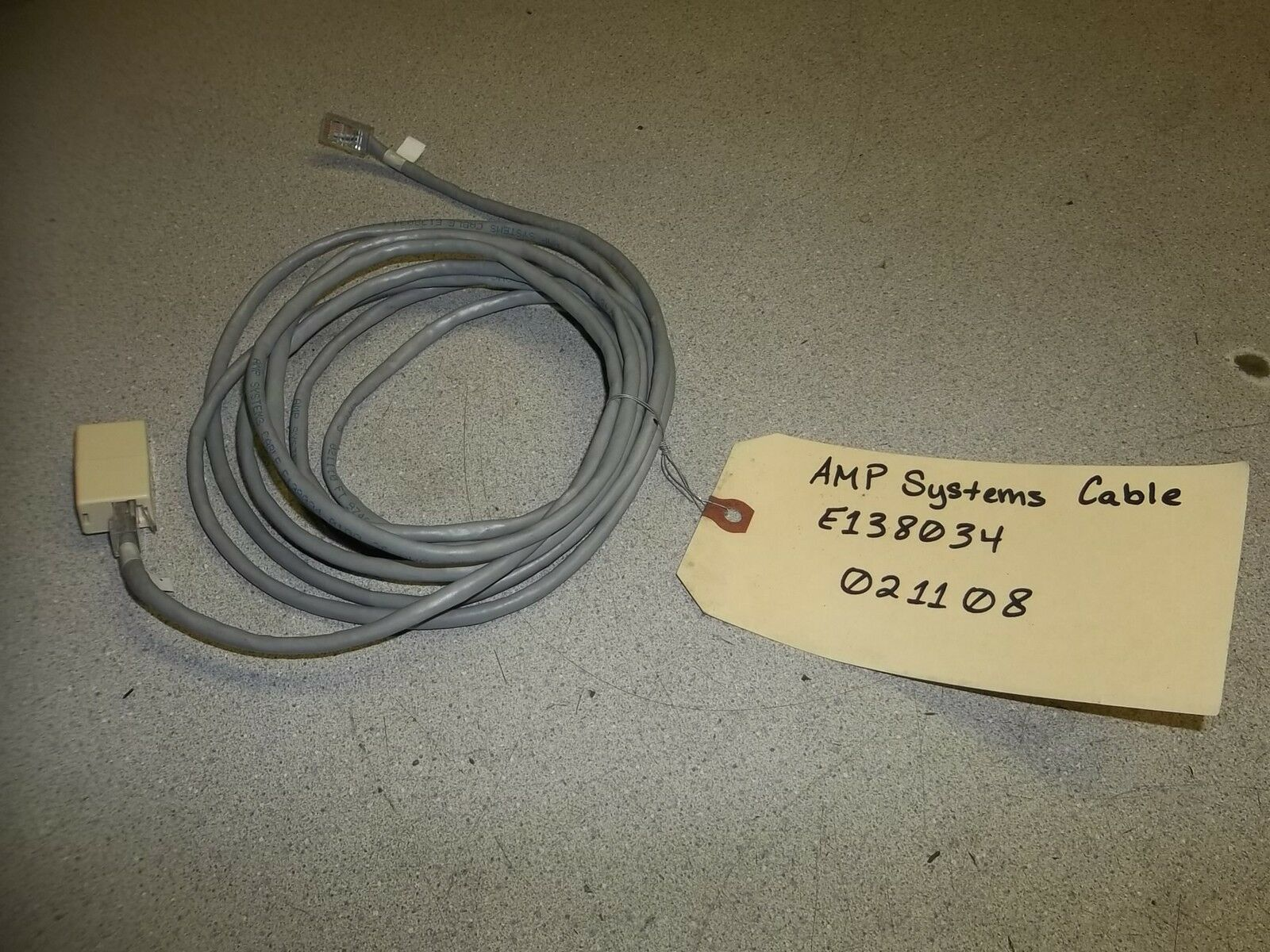 AMP Systems Cable E138034 0100 26 AWG Cm/mp PCC Ft4 Cat 5 021038 FT ...