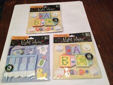 THESE 3 STICKERS DO NOT LIGHT UP *SALE* K&Company Light Ideas 3D NEW BEAUTIFUL!!