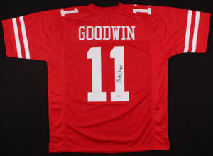 save off 5ab83 6c0b0 Details about Marquise Goodwin Signed 49ers Jersey (Beckett COA) San  Francisco Wide Receiver