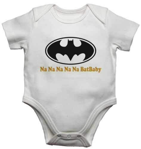 Batman BatBaby Bat Funny Personalised Baby//Toddler Vest Grow Bodysuits Babygrows