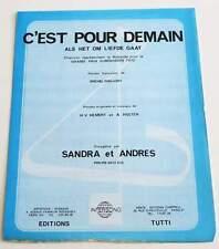 Partition sheet music SANDRA ET ANDRES : C'est pour Demain * 70's Eurovision