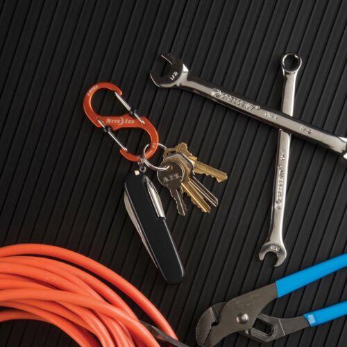 Nite Ize S-Biner SlideLock #3 Aluminum Orange Locking Dual-Gated Carabiner Clip