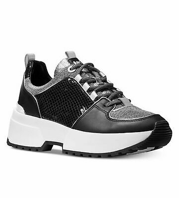 Black Silver MK Cosmo Trainer Lace Up