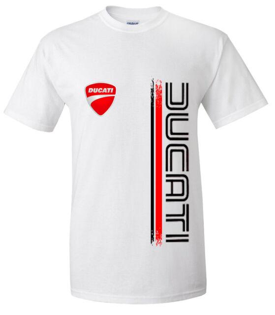 T-Shirt Gildan Ducati Logo Stripe Moto Trend Motocycle