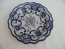 Assiette en faïence de Talavera bleu camaïeu (Espagne) XIXème siècle