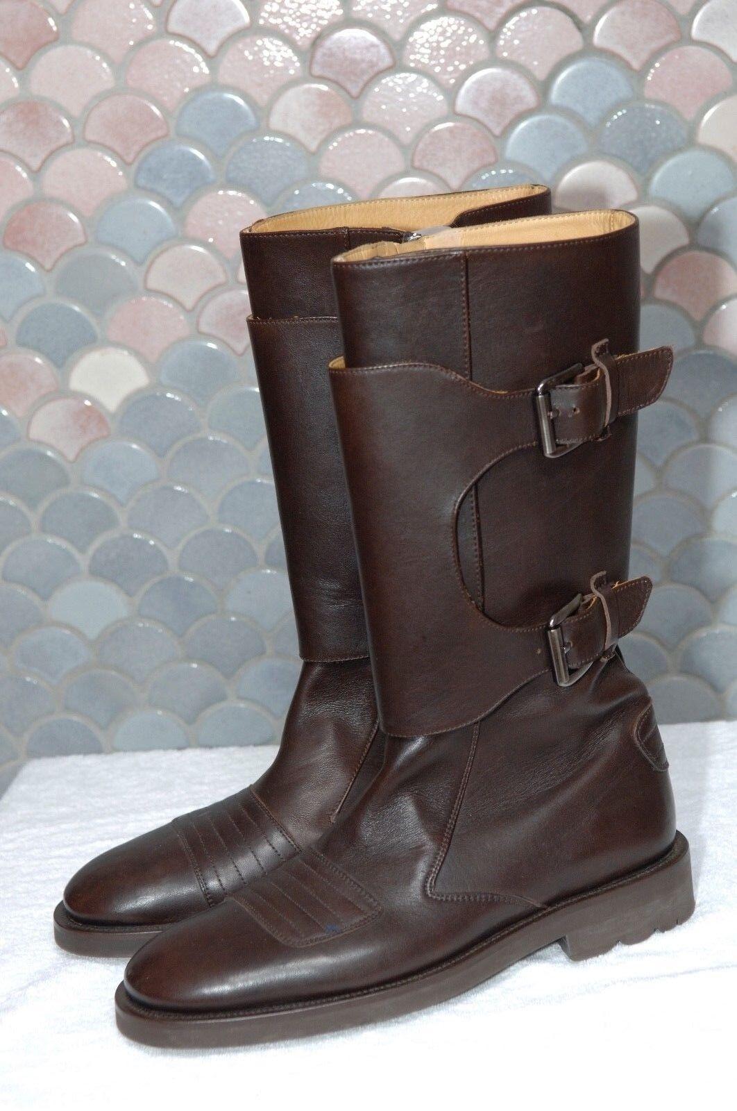 Stephane Kelian Dark Brown Boots, Rubber Sole, New, /2, US 9 1/2, Splendid Scarpe classiche da uomo