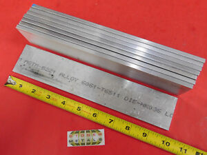 "8 Pieces 1//4/"" X 6/"" ALUMINUM 6061 FLAT BAR 8/"" long T6511 .25/"" Plate Mill Stock"